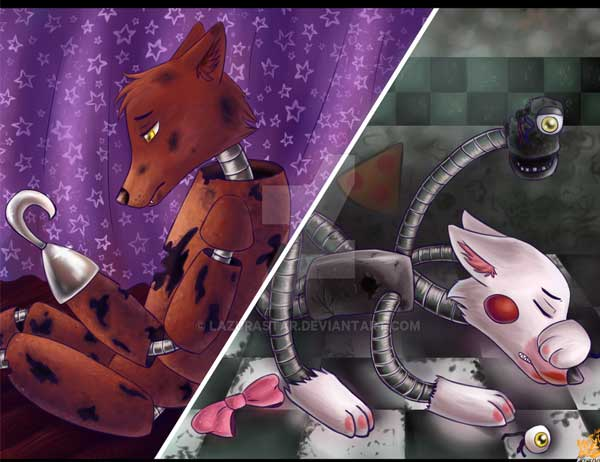 Download Wallpapers for Foxy and Mangle